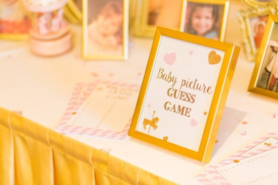 Golden-Carrousel-Babyshower-Games-Frames-Decor