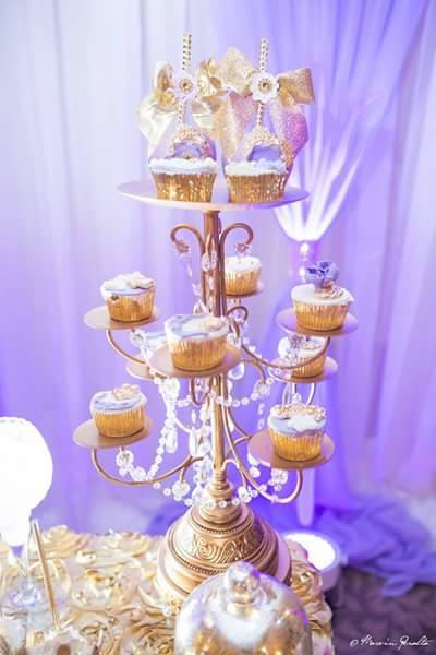 Golden-Enchanting-Princess-Baby-Shower-Cupcake-Tower
