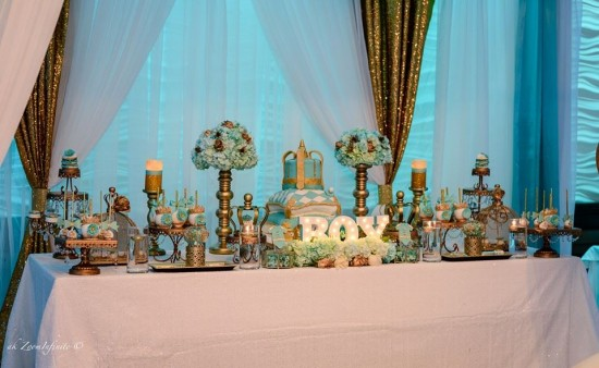Golden-Glamorous-Prince-Baby-Shower-Buffet