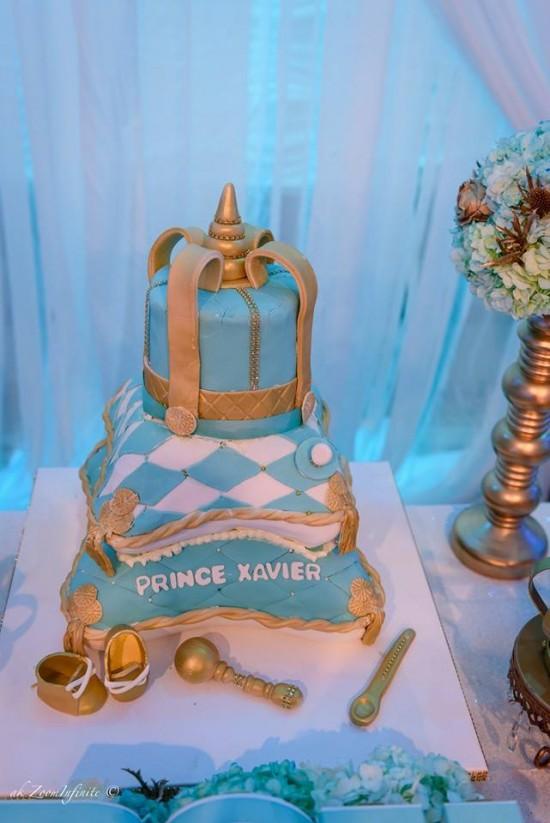 Golden-Glamorous-Prince-Baby-Shower-Cake