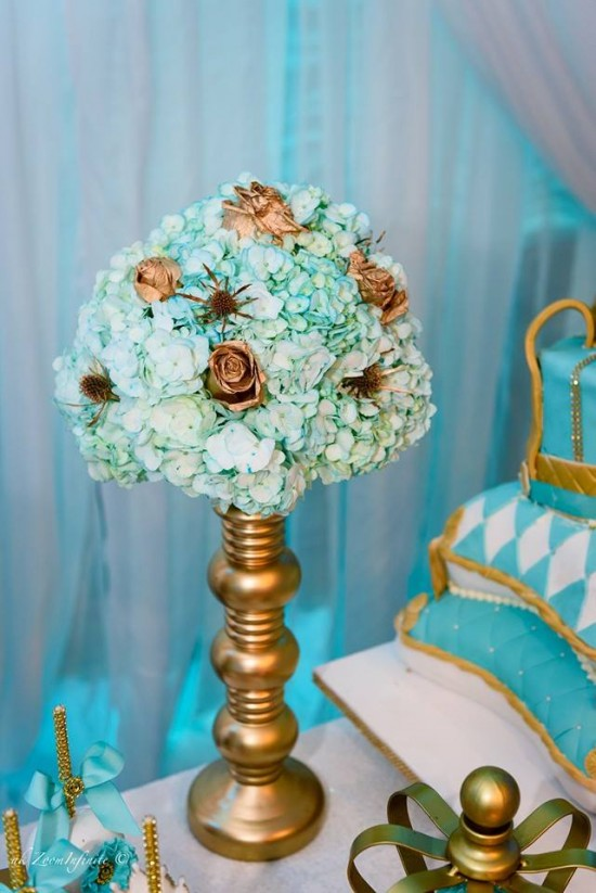 Golden-Glamorous-Prince-Baby-Shower-Flowers