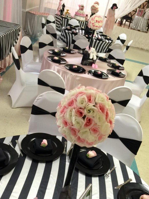 Modern-Chic-Chanel-Baby-Shower-Flower-Centerpieces