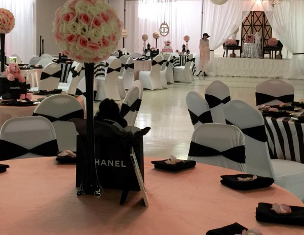 Modern-Chic-Chanel-Baby-Shower-Pink-Black-Decor