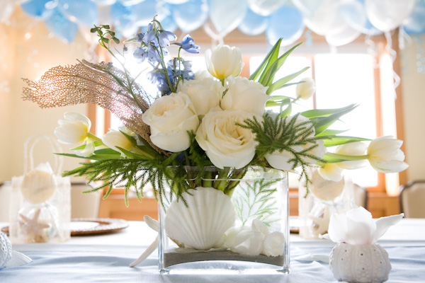 Whimsical-Beach-Inspired-Baby-Shower-Flowers