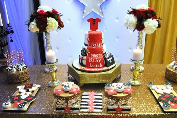Chic-Hollywood-Red-Carpet-Baby-Shower-Cake