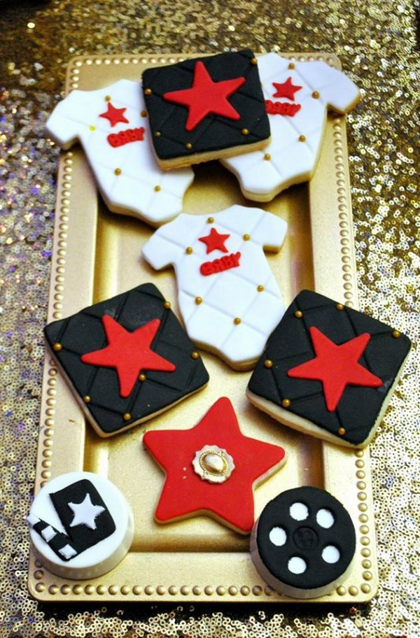 Chic-Hollywood-Red-Carpet-Baby-Shower-Sugar-Cookies