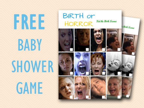 Free Baby Shower Game - Horror Or Birth Scenes - Baby -1108