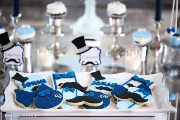 Sophisticated-Mustaches-And-Bows-Baby-Shower-Sugar-Cookies