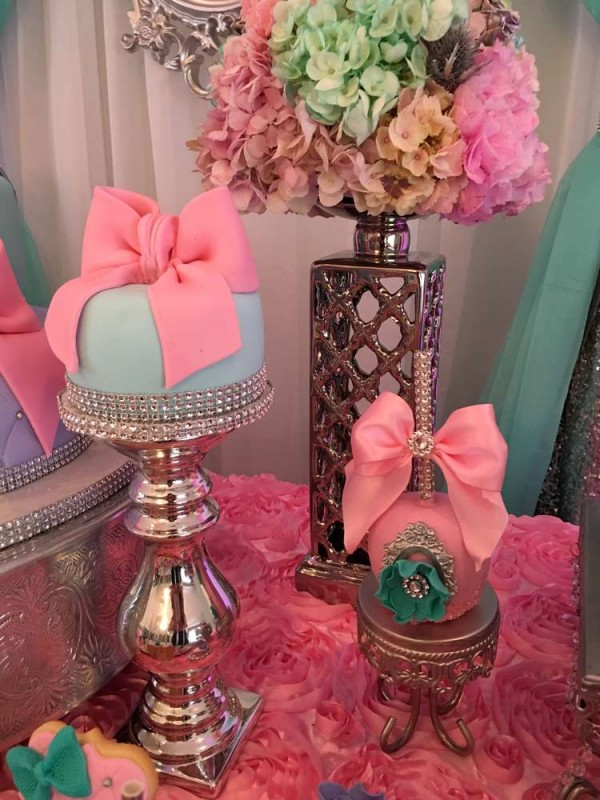 Teal-And-Pink-Modern-Chic-Baby-Shower-Flower-Bouquet