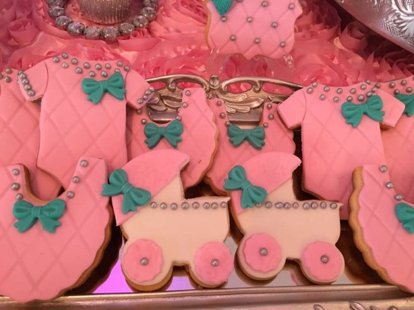 Teal-And-Pink-Modern-Chic-Baby-Shower-Sugar-Cookies