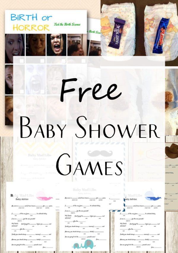 free baby shower game template