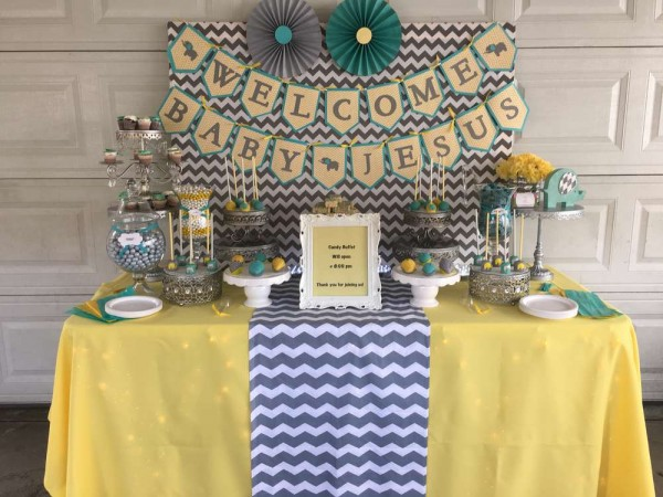 Chevron-Elephant-Baby-Shower-Dessert-Table