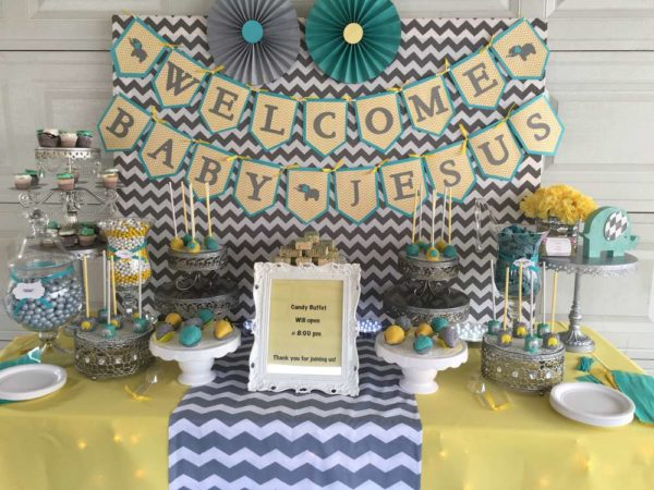 Chevron-Elephant-Baby-Shower-Framed-Art