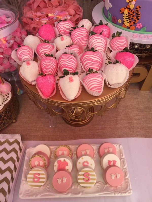 Elegant-Pink-Flower-Baby-Shower-Chocolate-Strawberries