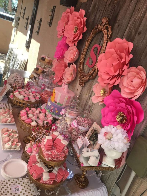 Elegant-Pink-Flower-Baby-Shower-Treats