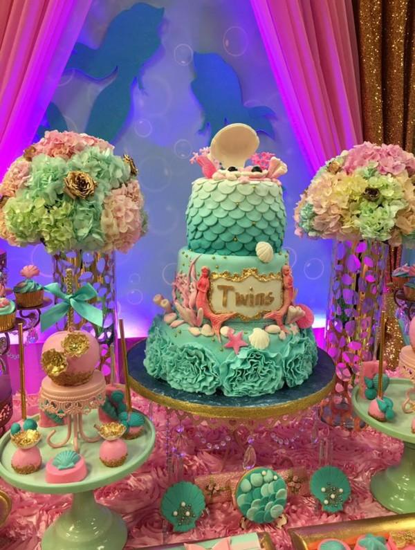 Mythical-Mermaid-Baby-Shower-Cake