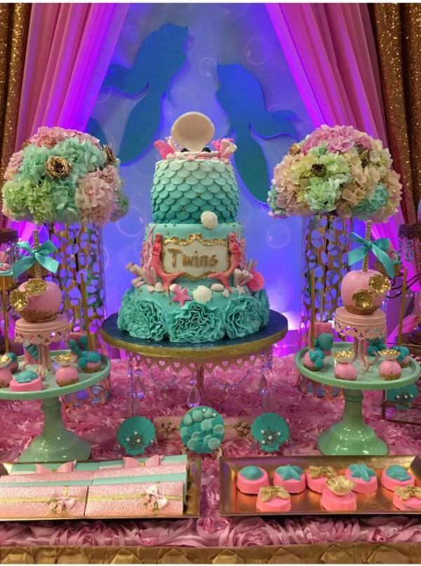Mythical-Mermaid-Baby-Shower-Dessert-Table