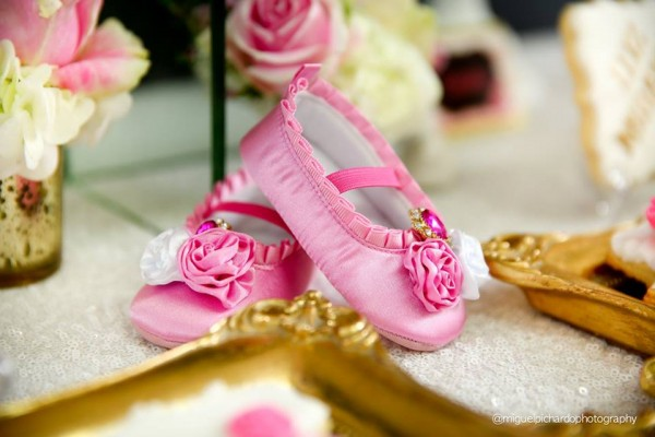 Pink-And-Black-Floral-Baby-Shower-Ballet-Shoes