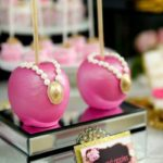 Pink and Black Floral Baby Shower