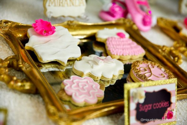 Pink-And-Black-Floral-Baby-Shower-Decorated-Sugar-Cookies