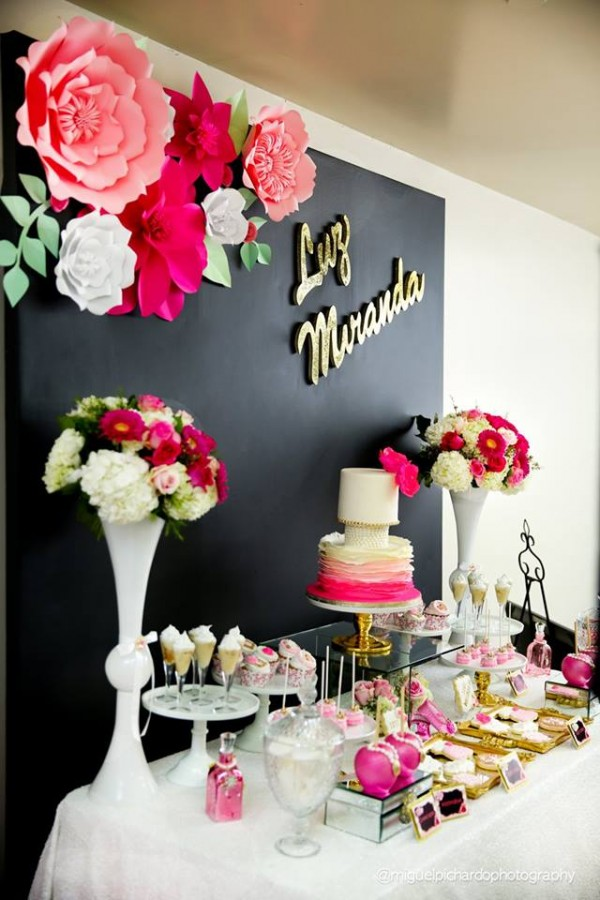 Pink-And-Black-Floral-Baby-Shower-Treats