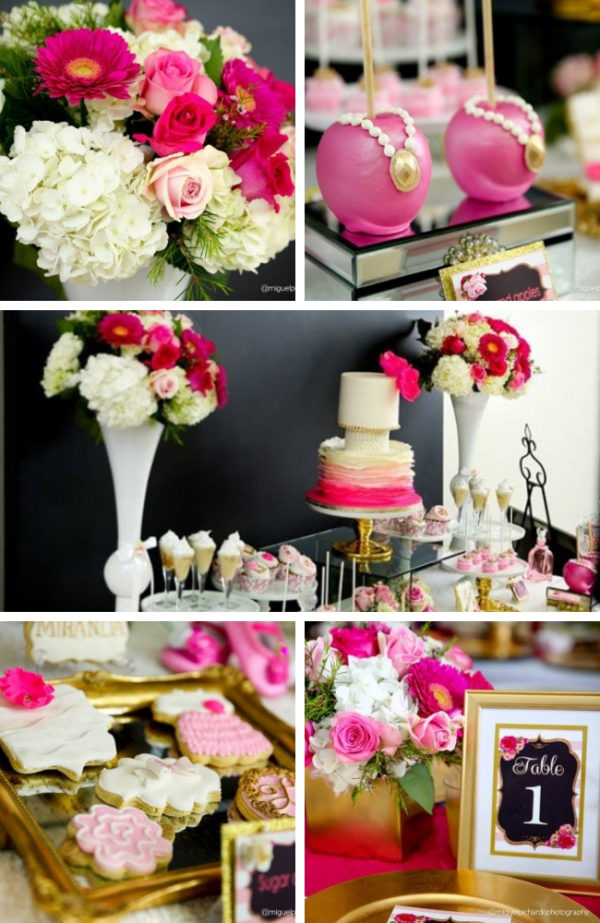 pink-and-black-floral-baby-shower