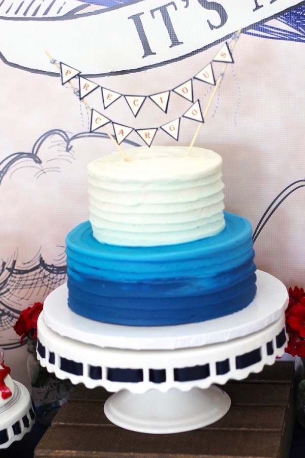 Classic-Airplane-Baby-Shower-Cake