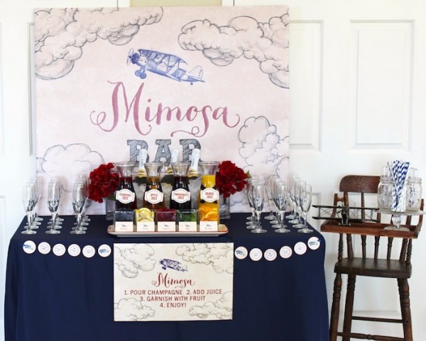 Classic-Airplane-Baby-Shower-Mimosa-Bar