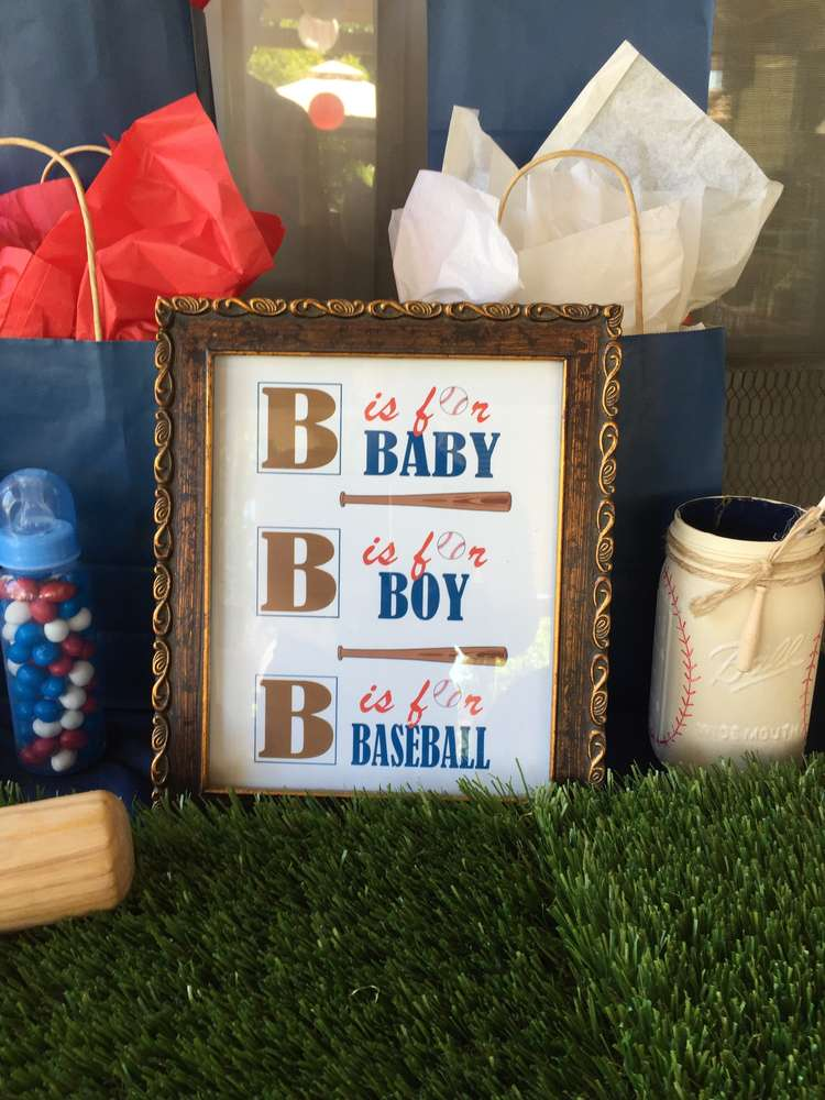 Classic Baseball Baby Shower - Baby Shower Ideas - Themes