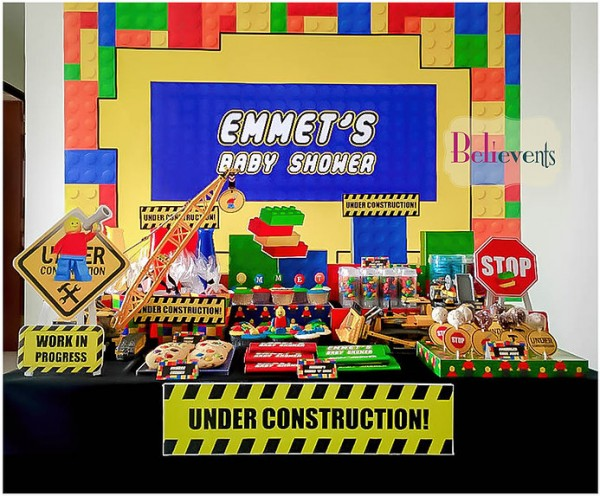 Lego-Construction-Baby-Shower-Dessert-Table