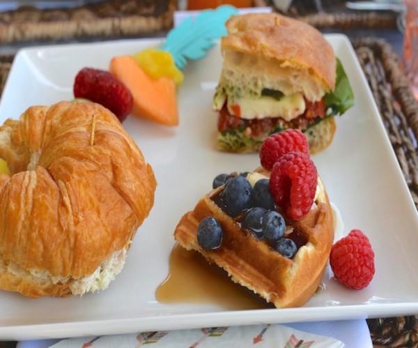 Modern-Boho-Baby-Shower-Croissants-Sandwiches