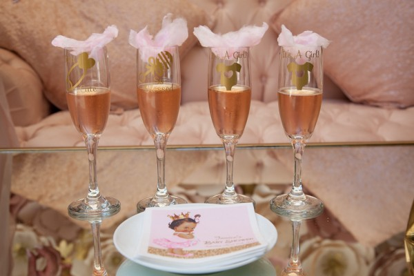 Pink-And-Gold-Tutu-Cute-Baby-Shower-Beverages