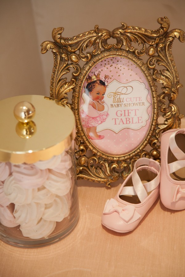 Pink-And-Gold-Tutu-Cute-Baby-Shower-Gift-Table