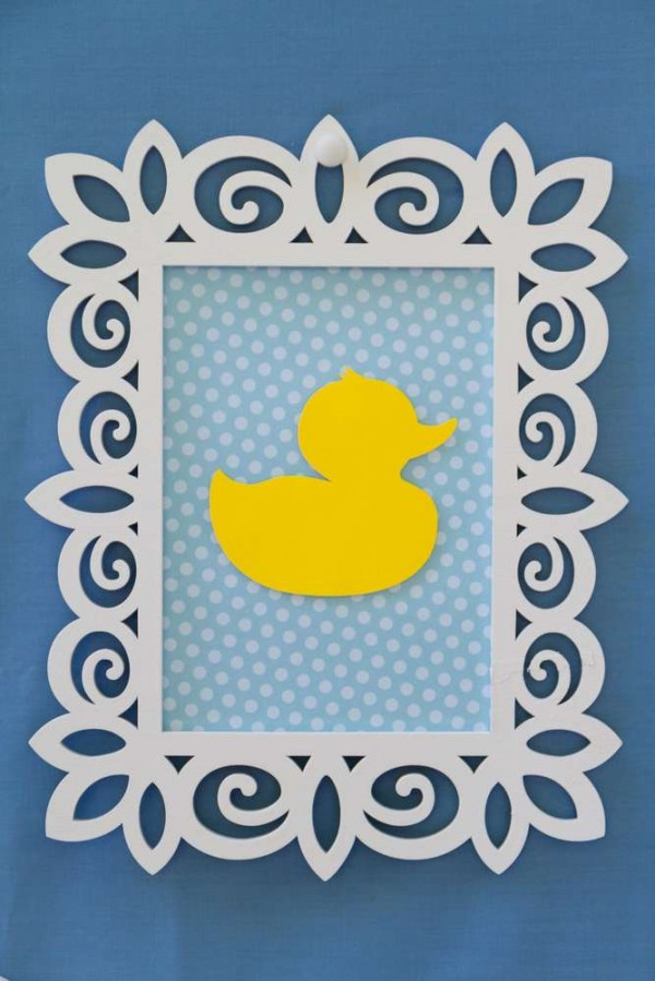 Sweet-Rubber-Ducky-Shower-Framed-Art