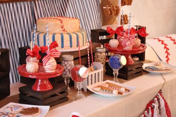 vintage-baseball-baby-shower-dessert-table