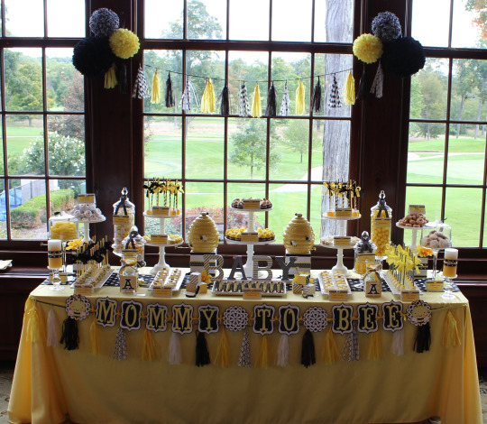 Blissful-Bumble-Bee-Baby-Shower-Treat-Table