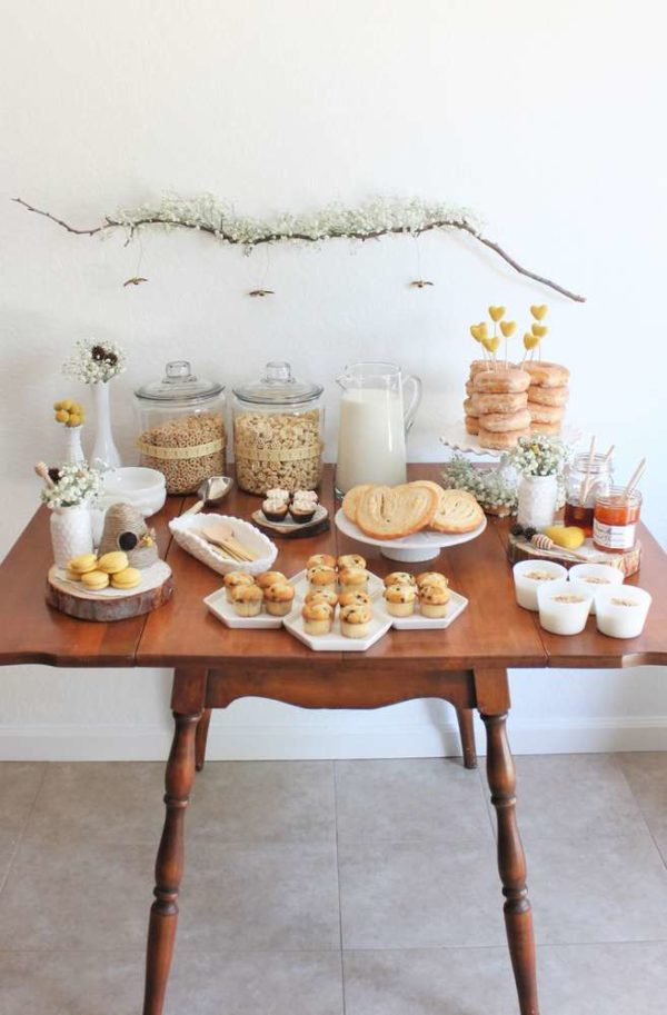 Bright-Bee-Loved-Baby-Shower-Snack-Table