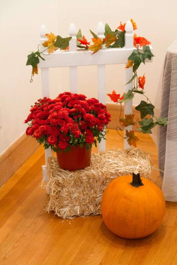 Festive-Little-Pumpkin-Baby-Shower-Floral-Decor