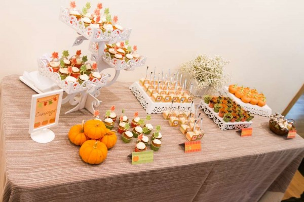 Festive-Little-Pumpkin-Baby-Shower-Snack-Table