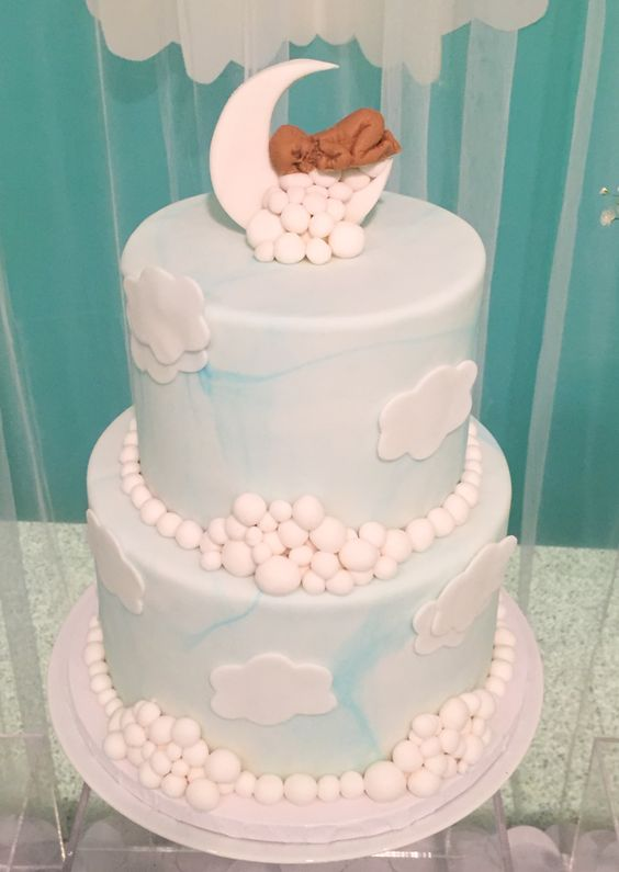 Shimmering-Heaven-Sent-Baby-Shower-Cake
