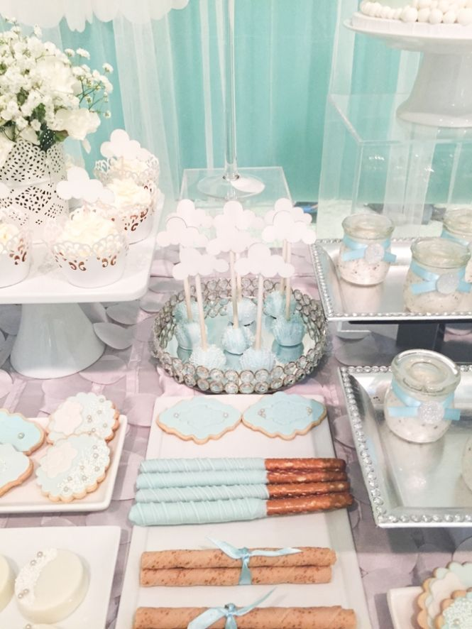Shimmering Heaven Sent Baby Shower