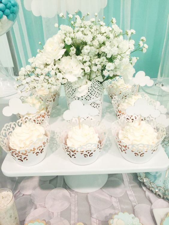 Shimmering-Heaven-Sent-Baby-Shower-Cupcakes