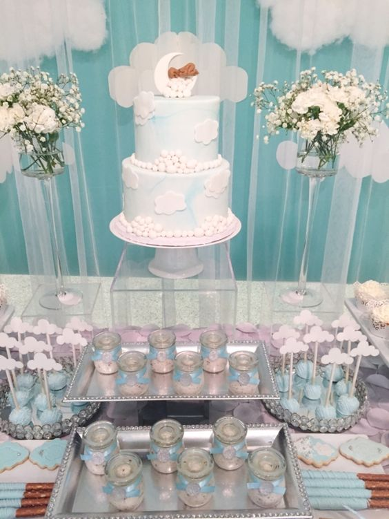 Shimmering Heaven Sent Baby Shower Baby Shower Ideas 4U