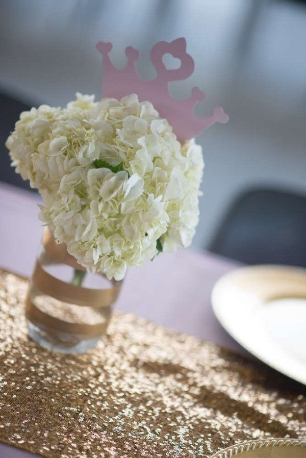 Shimmering-Pink-And-Gold-Baby-Shower-Flowers