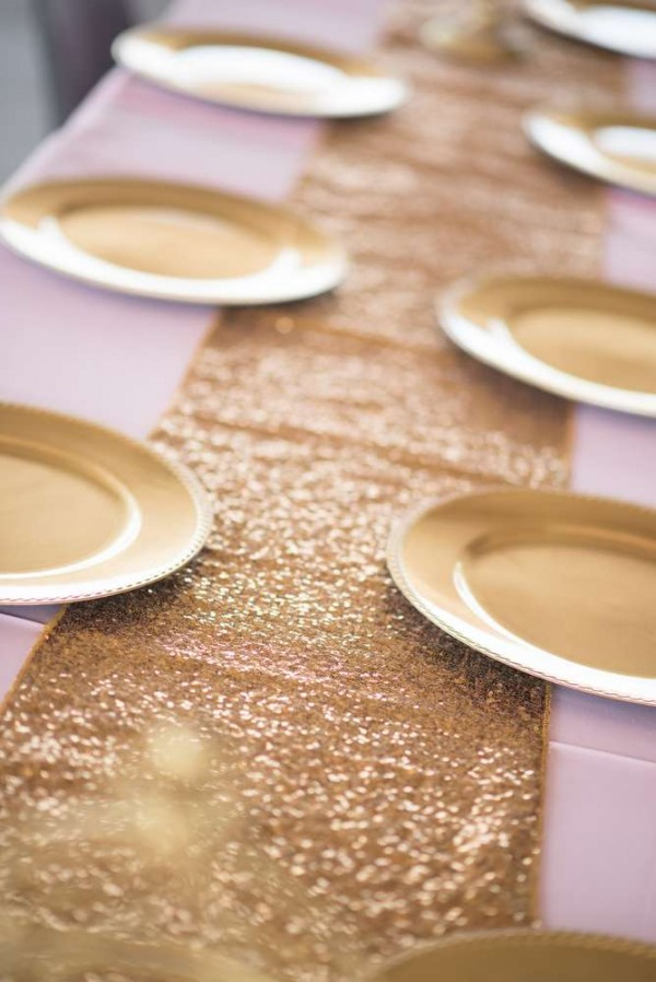 Shimmering-Pink-And-Gold-Baby-Shower-Place-Settings