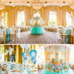 Blue and Gold Carousel Baby Shower