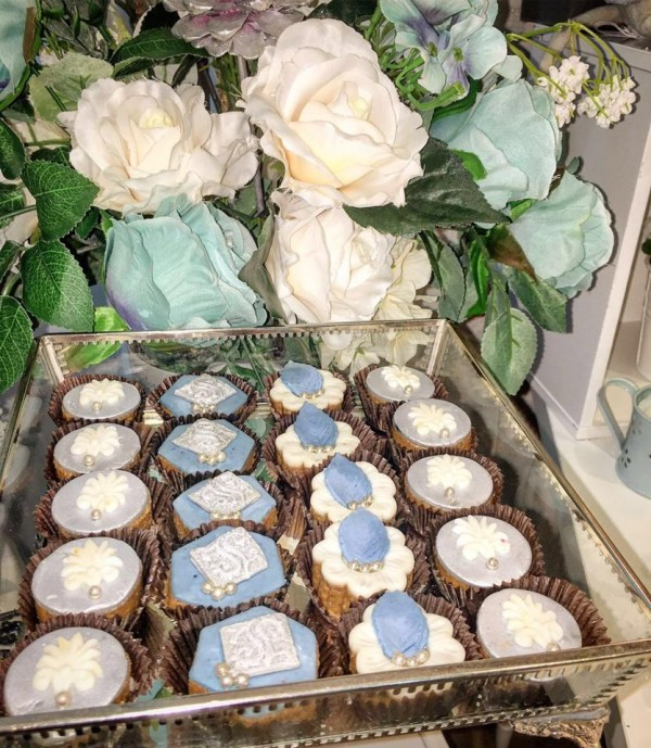 Charming-Silver-Blue-Sky-Baby-Shower-Cupcakes