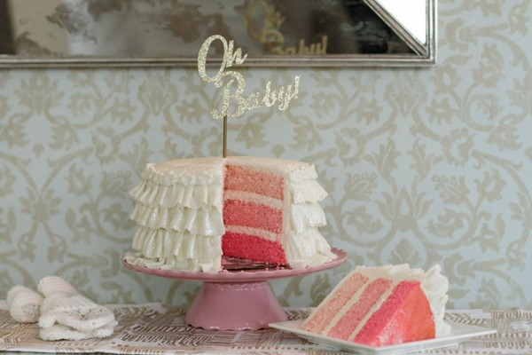 Chic-Winter-Wonderland-Baby-Shower-Cut-Cake