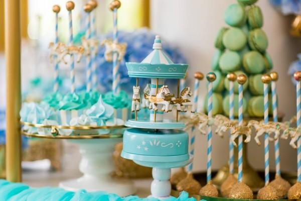 Golden Carousel Babyshower-Cakepops