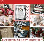 Christmas Themed Baby Shower Decorations and Party Favors